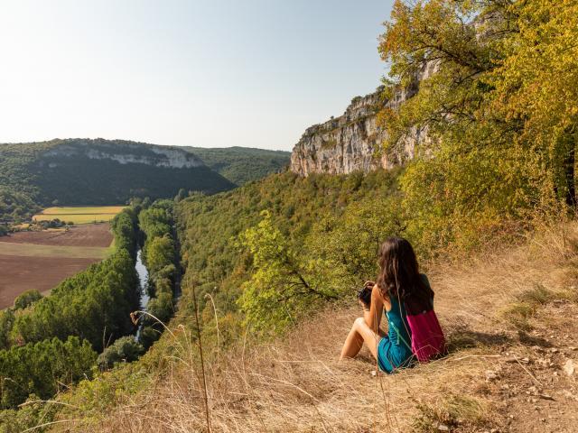 Point de vue sur lé vallée du Célé