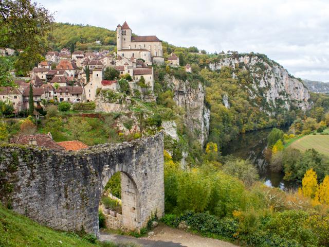 Porte de Rocamadour à Saint-Cirq-Lapopie