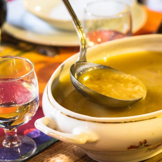 Soupe au Restaurant Lou Bourdié à Bach