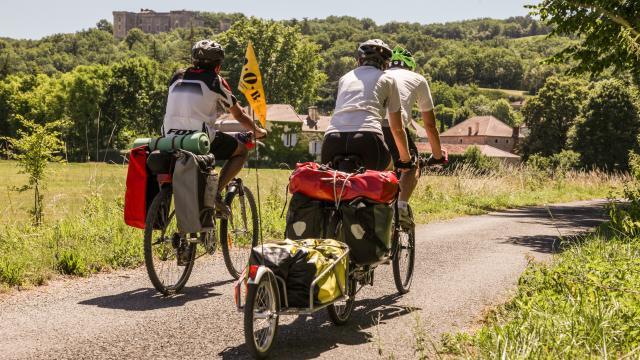 Sur la Véloroute à Grézels