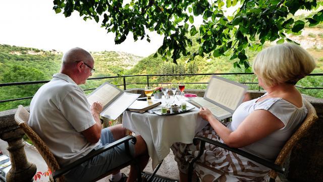 Terasse restaurant Beausite à Rocamadour