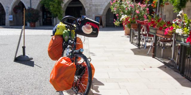 Vélo d'un pélerin de Saint-Jacques