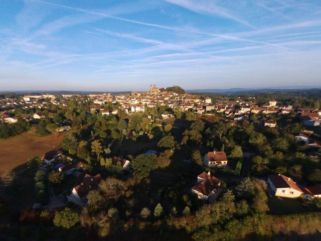 Vue aérienne de Gourdon