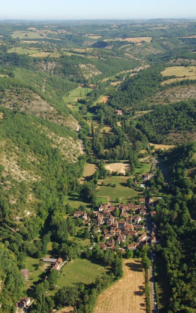 Vue aérienne de Saint-Martin-de-Vers