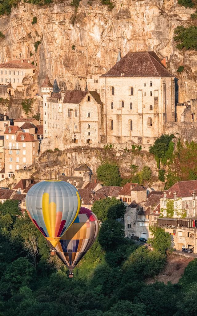 Décollage de montgolfières à Rocamadour