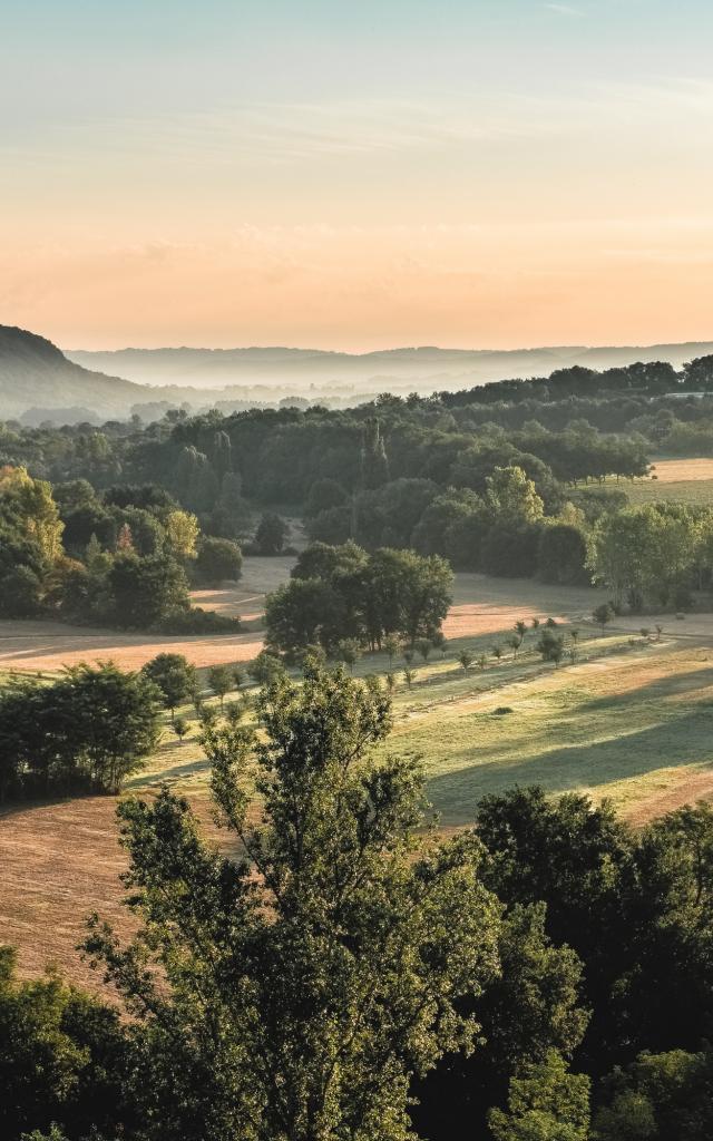 Vallée de la Dordogne, point de vue de Mirandol