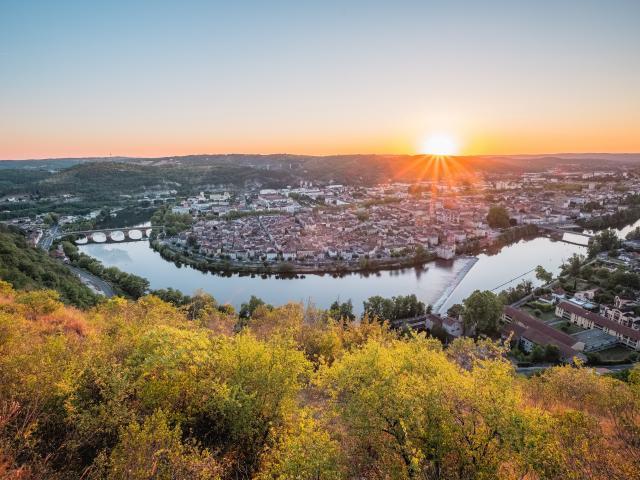 Coucher de soleil sur Cahors