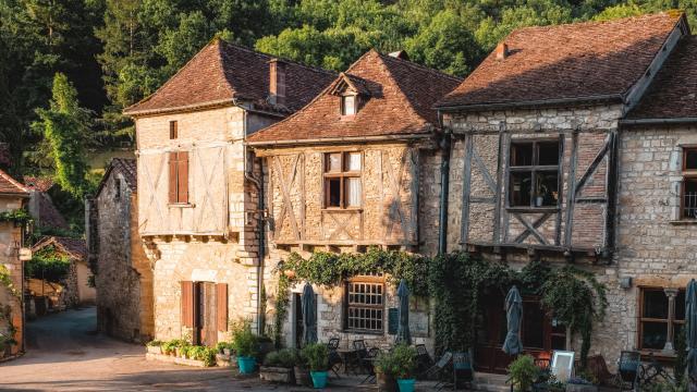 Maisons à pan de bois de Saint-Cirq-Lapopie