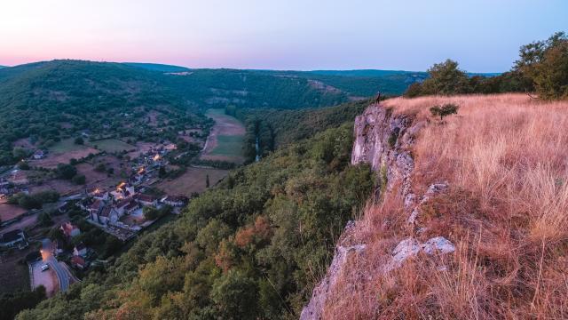 Point de vue sur Espagnac, vallée du Célé