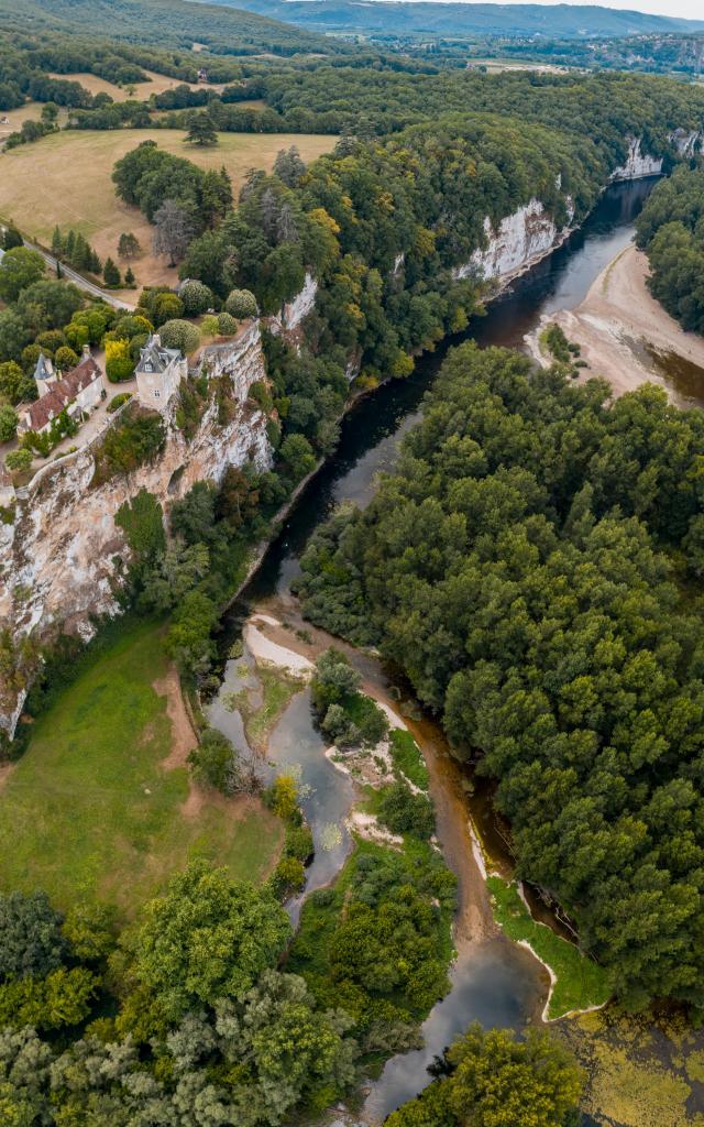 Confluence entre l'Ouysse et la Dordogne