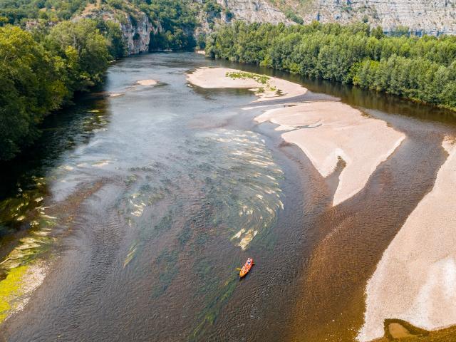 Canoë sur la Dordogne à Pinsac