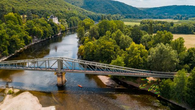 Vallée de la Dordogne au Pont de Pinsac