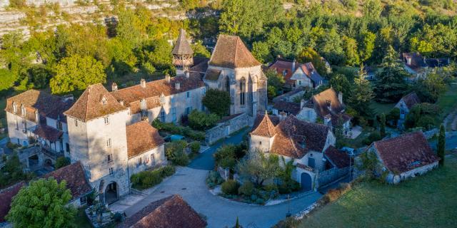 Vue aérienne d'Espagnac-Sainte-Eulalie | Lot Tourisme - C. Novello