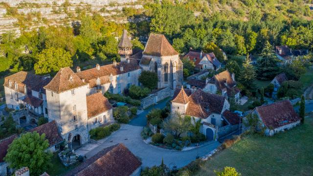 Vue aérienne d'Espagnac-Sainte-Eulalie   Lot Tourisme - C. Novello