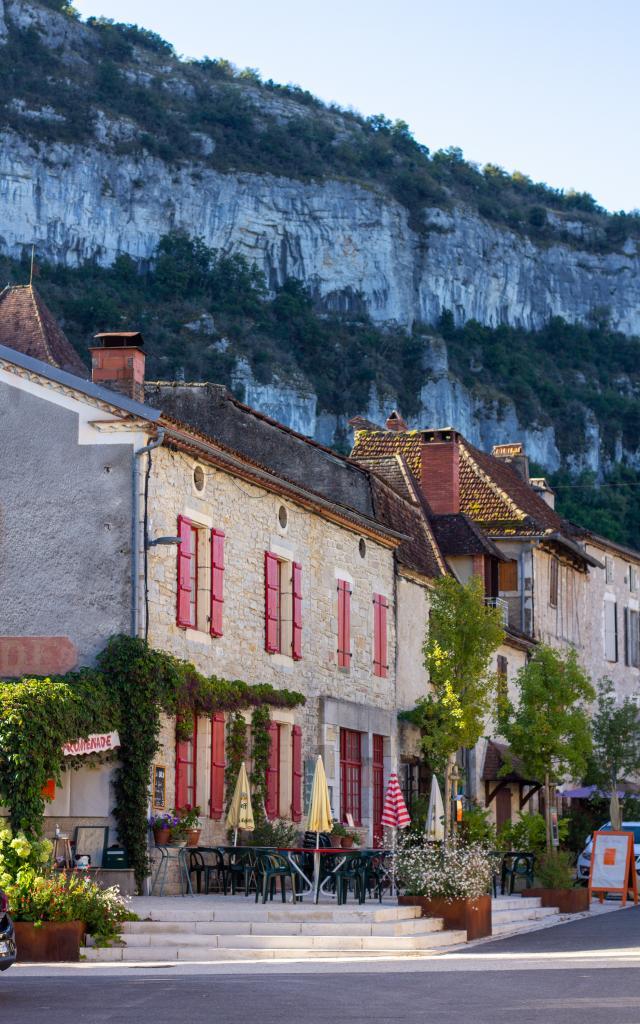Jolies façades à Marcilhac-sur-Célé