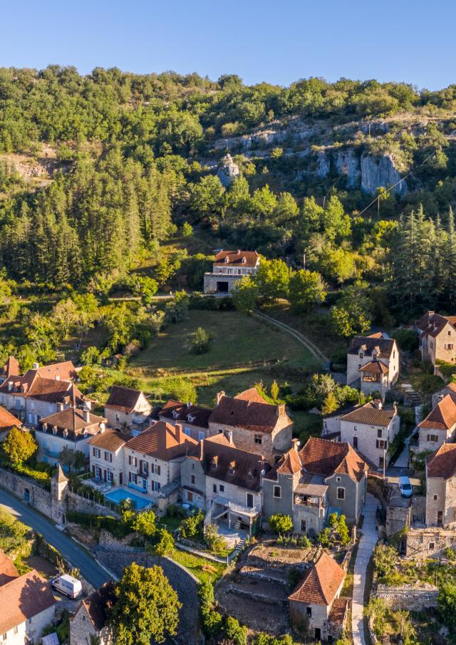 Vue aérienne de Saint-Sulpice | Lot Tourisme - C. Novello