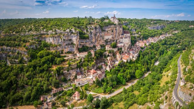 Vue aérienne de Rocamadour