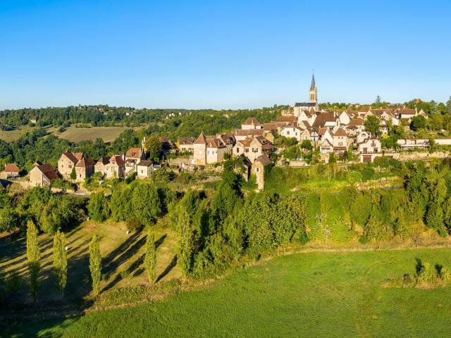 Vue aérienne du Village de Faycelles