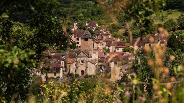 France, Lot (46), vallée de la Dordogne, village d'Autoire classé parmi les Plus Beau Villages de France // France, Lot, Dordogne Valley, Autoire village at the most beautifull village of France label