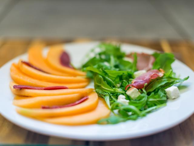 Salade melon jambon