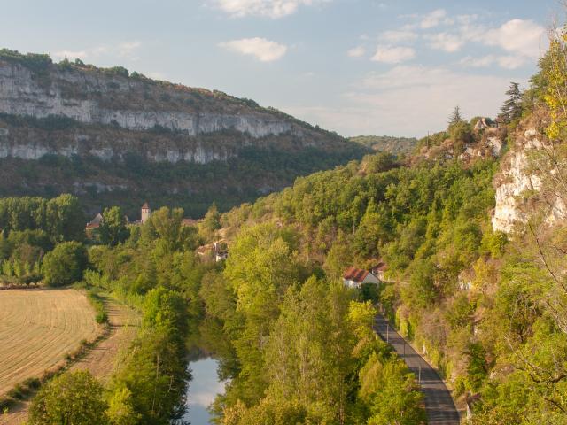 Vue sur Marcilhac-sur-Célé