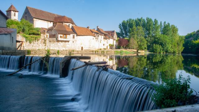 Chaussée du Moulin de Marcilhac-sur- Célé