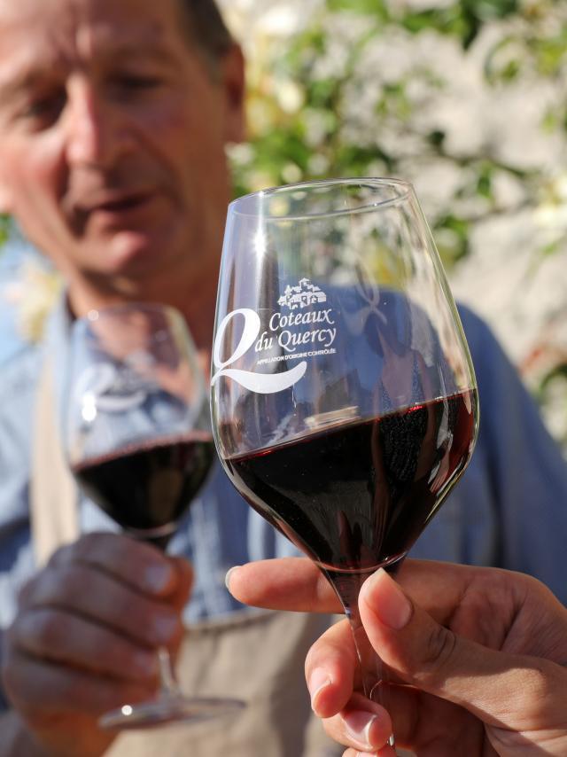 Dégustation de vin coteaux du Quercy au Domaine de Lagarde