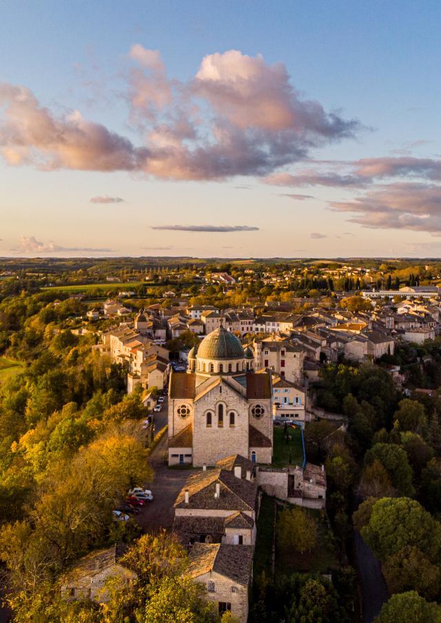 Vue aérienne de Castelnau-Montratier