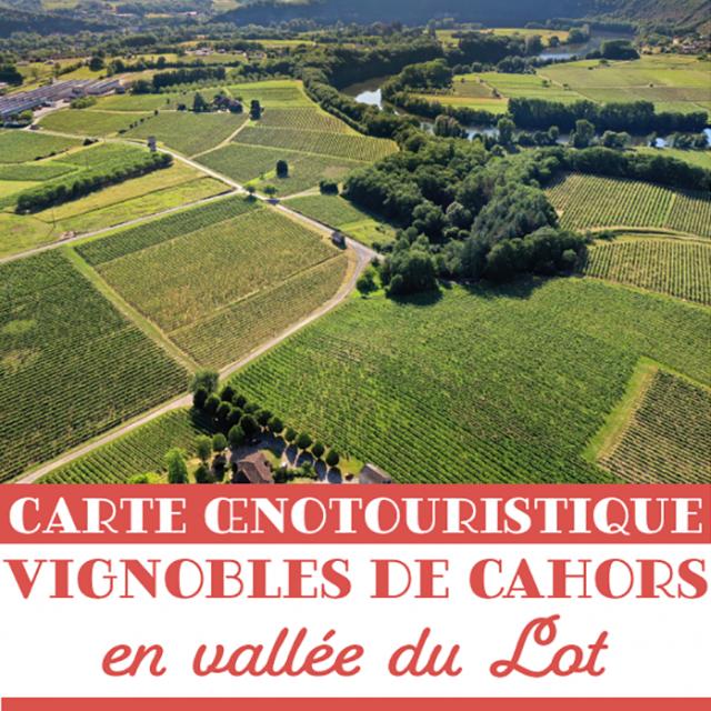 Carte Oenotouristique Vignobles De Cahors