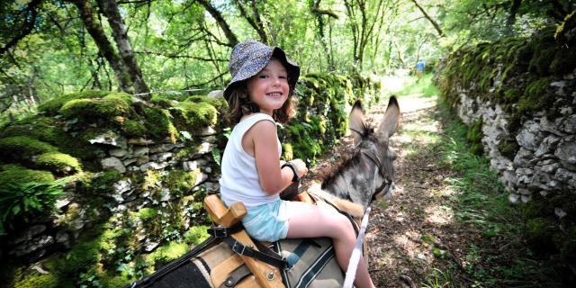 Randonnée avec âne baté - Cab'ânes à Truffes Loubressac