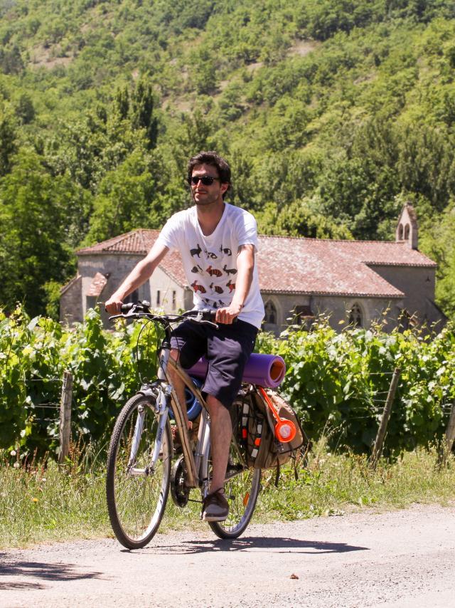 A vélo dans les vignes - Véloroute Vallée du Lot