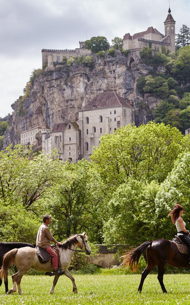 Rando équestre à Rocamadour
