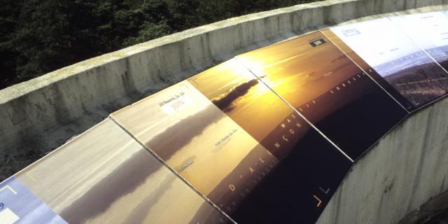 La table panoramique du Belvédère de Perseigne