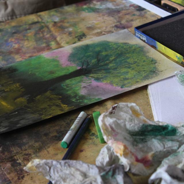 Atelier peindre au Jardin