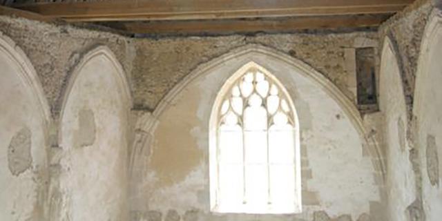 La charpente de la chapelle du logis de Moullins