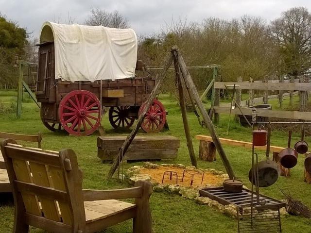Valise à Cheval - chariot de cowboy