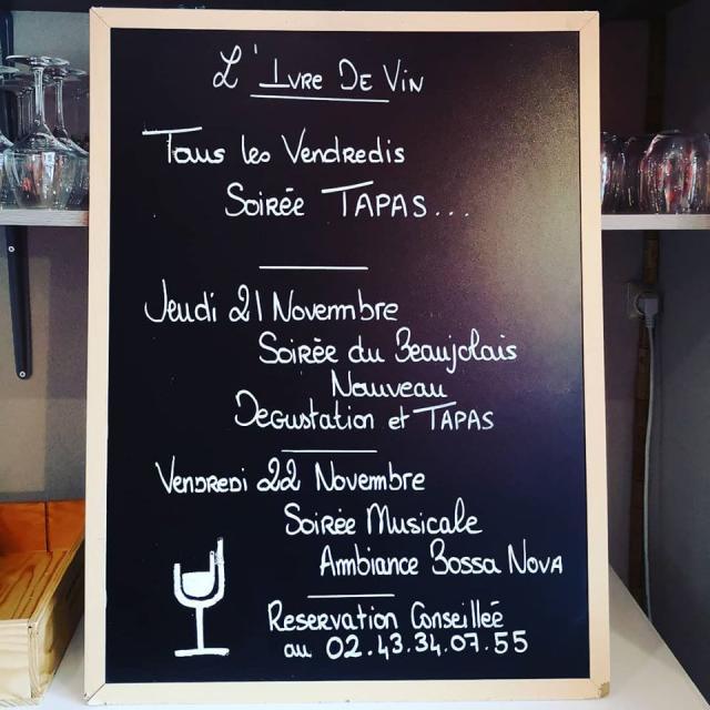 Soirée Tapas à l'Ivre de vin
