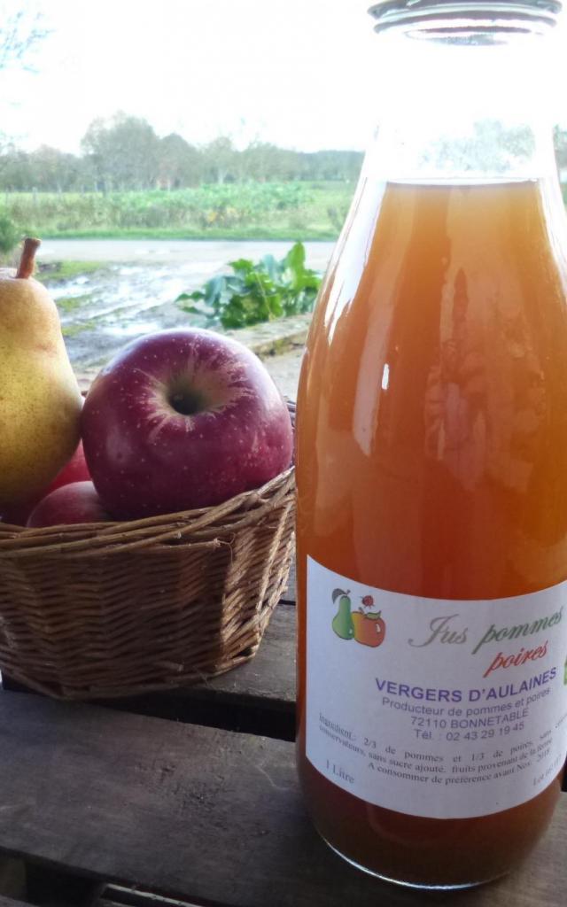 Jus Pommes Poires Vergers d'Aulaines