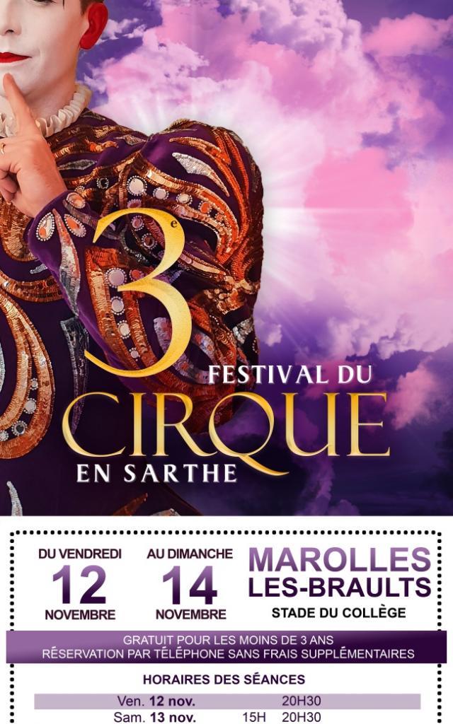 Affiche Festival De Cirque En Sarthe 2021