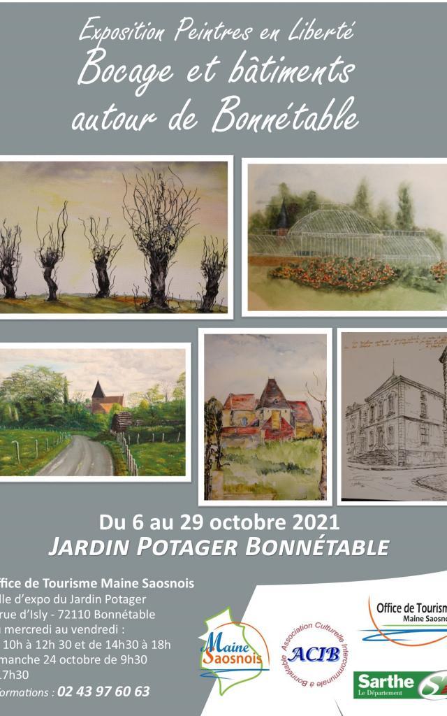 Affiche Expo Bocage Et Bâtiments