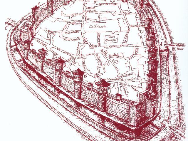 Dessin des fortifications de Mende
