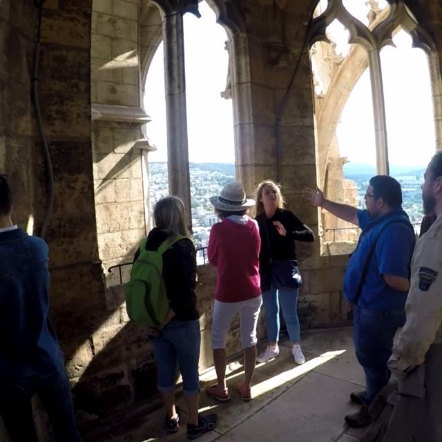 En haut du Clocher de la Cathédrale de Mende