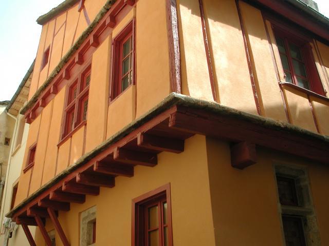 Façade d'une maison à Colombage dans la rue de l'Arjal à Mende