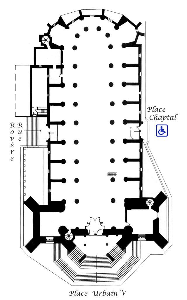 Plan de la cathédrale de Mende