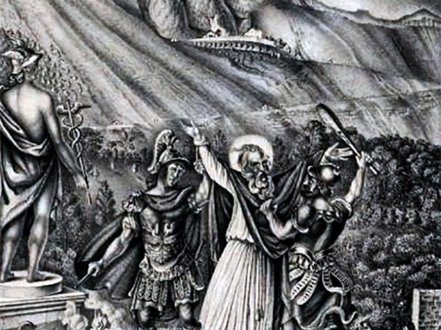 Scène du Martyre Saint Privat