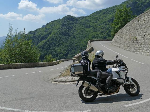 Motard Col De Turini Route Grandes Alpes @Drone De Regard