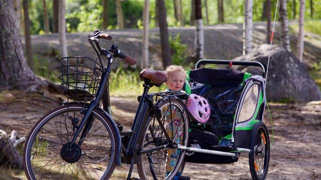 Promenade à vélo bébé