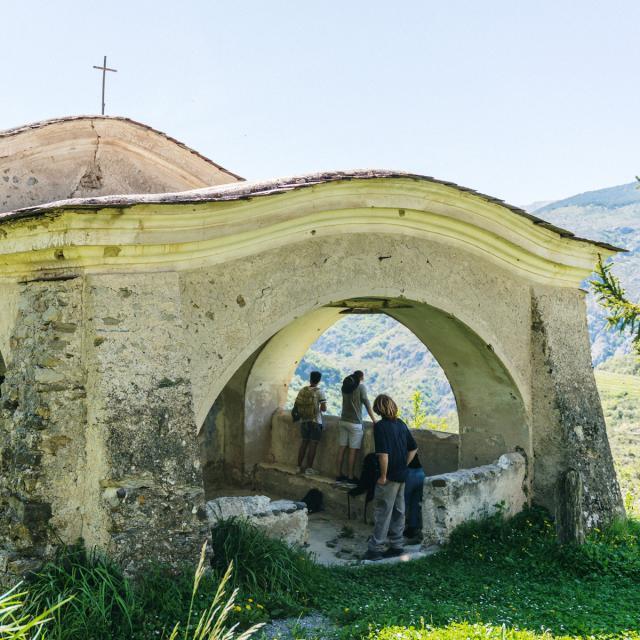 Randonner A Saorge - chapelle Sainte-Croix