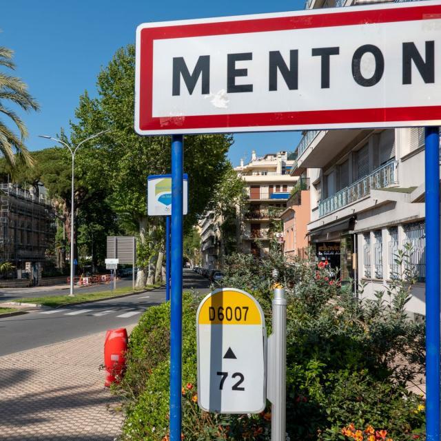 Route Menton