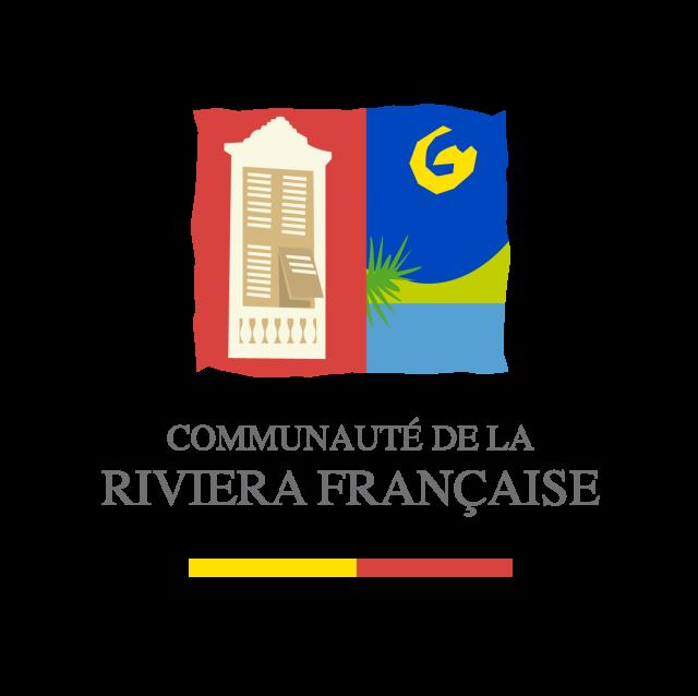 Logo CARF - Communauté d'Agglomération de la Riviera française - texte gris
